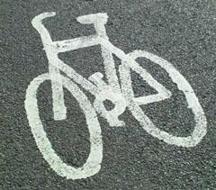 Markering cykelväg